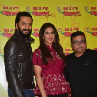Riteish Deshmukh and Krishika Lulla at Launch of the song 'Bappa Tu' of film Banjo