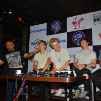 The Vamps in Mumbai with Shekhar Ravjiani and Vishal Dadlani