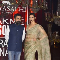 Deepika Padukone in Sabyasachi at Grand Finale of Lakme Fashion Show 2016