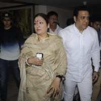 Govinda with his wife and son at Prayer meet of Krushna Abhishek's father!