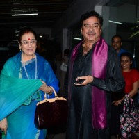 Shtraughan Sinha with wife Poonam Sinha at Special Screening of  'Akira'