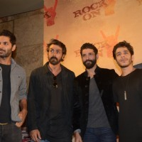 Farhan Akhtar, Arjun Rampal, Purab Kohli and Shashank Arora at Teaser Launch of ROCK ON 2!