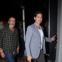 Chunky Pandey and Dino Morea at Baba Dewan's Bash