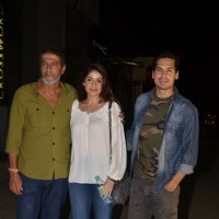 Dino Morea and Chunky Pandey at Special screening of 'Bar Bar Dekho'