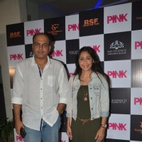 Ashutosh Gowarikar and Sunita Gowariker at Special screening of Film 'Pink' at Sunny Super Sound