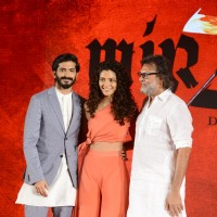 Harshvardhan Kapoor, Saiyami Kher and Rakeysh Omprakash Mehra at Music launch of film 'Mirzya'