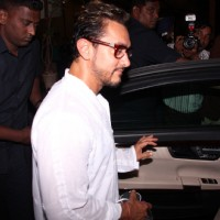 Aamir Khan snapped outside a spa