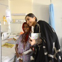 Sonam at Tata Memorial Hospital for Cuddles Foundation