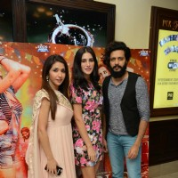 Riteish Deshmukh, Nargis Fakhri and Krishika Lulla at Press meet of 'Banjo' in Delhi