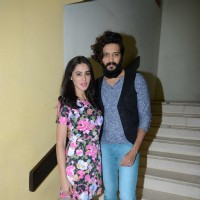 Nargis Fakhri and Riteish Deshmukh at Press meet of 'Banjo' in Delhi