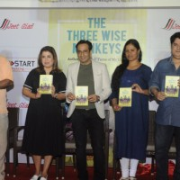 Farah Khan, Sajid Khan and David Dhawan at Launch of Jeet Gian book- The Three Wise Monkeys