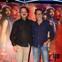 Rohit Khattar with Rakeysh Omprakash Mehra at Promotion of film 'Mirzya'