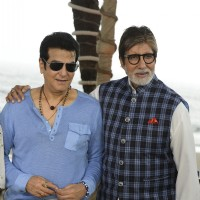Amitabh Bachchan and Jeetendra at NDTV Dettol Banega Swachh India event