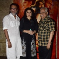 Rakeysh Omprakash Mehra, Ramesh Sippy and Kiran Juneja at Special screening of film 'Mirzya'