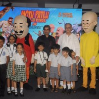 Vishal Bharadwaj and Gulzar at Music Launch of Motu Patlu – King of Kings