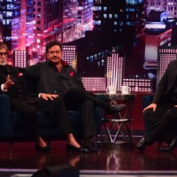 Amitabh Bachchan, Shatrughan Sinha and Sajid Khan at Shooting of Zee TV show Yaaron Ki Baraat