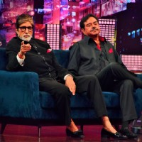 Amitabh Bachchan and Shatrughan Sinha at Shooting of Zee TV show Yaaron Ki Baraat