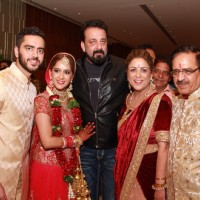 Sanjay Dutt  snapped at Shefali's Wedding Reception!