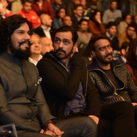 Randeep Hooda, Arjun Rampal and Ajay Devgn attend the launch 'Super Fight League'