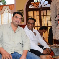 Siddharth Roy Kapur and Anurag Basu snapped at Durga Pooja