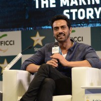 Arjun Rampal interacting with the media at FICCI Event