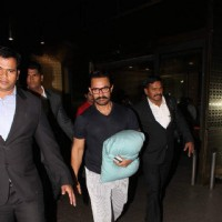 Aamir Khan snapped at the Airport