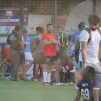 Raj Kundra snapped playing Soccer!