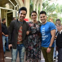 Trio - Tabu, Tusshar and Kunal pose together