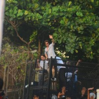 Shah Rukh Khan waves at his fans