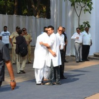 Sanjay Kapoor gives a hug to Amar Singh