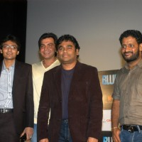 A R Rahman and Resul Pookutty at Blue film music preview at Cinemax | Blue Event Photo Gallery