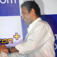 Tata Indicom Brand Ambassador Irfan Pathan blocked a female fan who trying to kiss Irfan Pathan at a function of showcases Photon - Mobile broadband services in Kolkata on Monday 17th Aug 09
