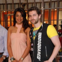 "Neil Nitin Mukesh and Mugdha Godse at ""JAIL"" promotional event, Oberoi Mall in Mumbai 