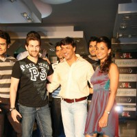 Director Madhur Bhandarkar, Bollywood actors Neil Nitin Mukesh and Mughda at the promotional event of their upcoming movie | Jail Event Photo Gallery