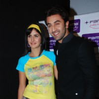 "Bollywood actors Ranbir Kapoor and Katrina Kaif at the promotional event of their upcoming movie ""Ajab Prem Ki Ghazab Kahani"" at Fame Malad in Mumbai 