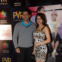 "Bollywood actors Aftab Shivdasani and Aamna Shariff at the special screening of film ""Aao Wish Karein"", PVR Juhu"