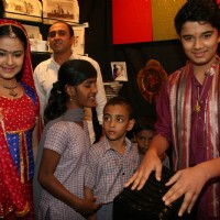 TV actors Avika Gor and Avinash Mukherjee posing for the photographers during an event at Asha Sadan Kids event in Mumbai on Wednesday, 11 November 2009