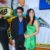 "Bollywood actors Ranbir Kapoor and Katrina Kaif at the sucess bash of his movie ""Ajab Prem Ki Kajab Kahani"" in Novotel 