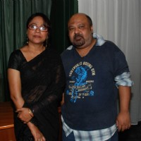 "Bollywood actress Seema Biswas with a friend on the screening of the film ""Un Hazaraon Ke Naam"" at Fun Cinemas in Mumbai"