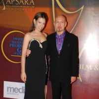 Ben Kingsley and his wife Daniela Lavender on Apsara Awards at Grand Hyatt (IANS: Photo)
