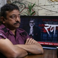 "Director Ram Gopal Varma promotes ""Rann"" at Andheri 