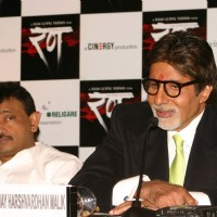 Bollywood star Amitabh Bachchan and director Ram Gopal Verma in New Delhi to promote his film'' ''''Rann'''' on Tuesday 19 jan 2010 | Rann Event Photo Gallery