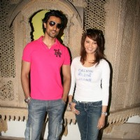 "Bollywood actors Kunal Kapoor and Diana Hayden launch ""Take Care Take Charge Campaign"" at Times of India Building"