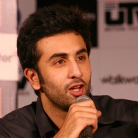 "Ranbir Kapoor at a press conference for his film ""RAJNEETI"",in New Delhi 