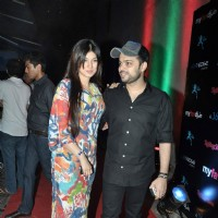 Bollywood actress Ayesha Takia with her hubby at My Favorite DJ Awards at Blue Frog