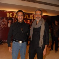 Gulshan Grover and Prakash Jha at Raajneeti film success bash at Novotel | Raajneeti Event Photo Gallery