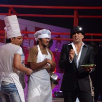 Akshay Kumar at Master Chef Indian on location at Film City