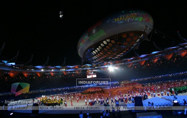 The opening of 19th Commonwealth Games 2010, in New Delhi on Sunday