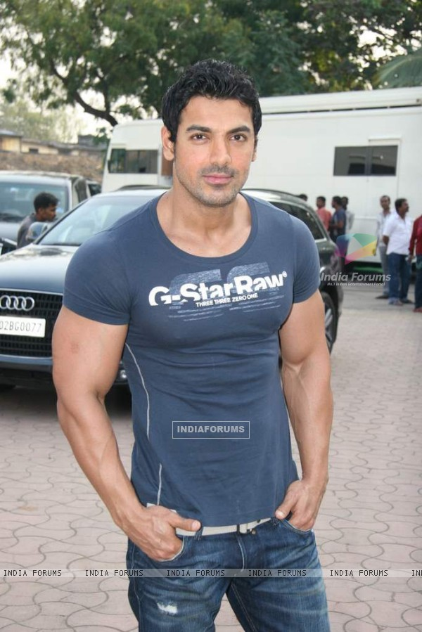 John Abraham in the sets of Sab Tv serial F.I.R at Goregaon