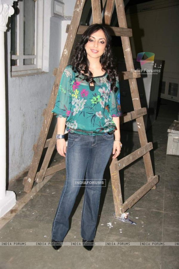 Pakhi in the sets of Sab Tv serial F.I.R at Goregaon